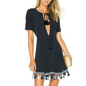 Tallulah navy blue tassel dress
